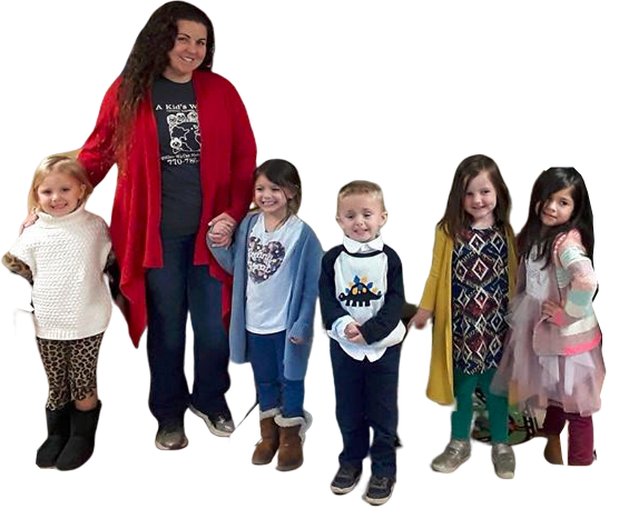 Teacher and little preschoolers wearing best outfit and dress at a Christian Preschool & Daycare Serving Loganville, GA
