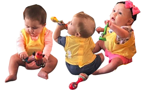 Cute babies playing with toys at a Christian Preschool & Daycare Serving Loganville, GA