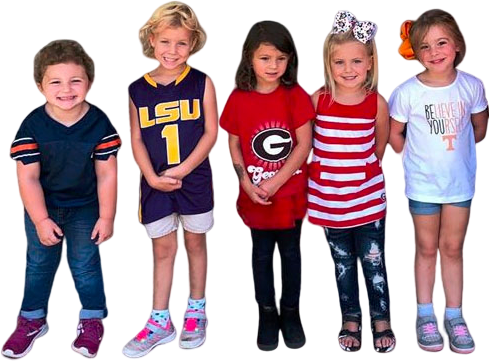 Happy Preschoolers wearing best outfit at a Christian Preschool & Daycare Serving Loganville, GA