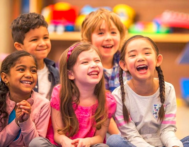 Group of kids laughing at a Christian Preschool & Daycare Serving Loganville, GA