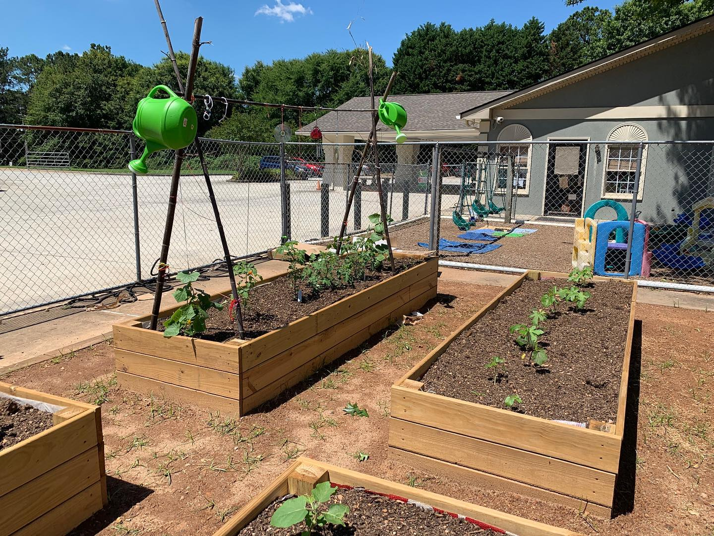 School garden at a Christian Preschool & Daycare Serving Loganville, GA