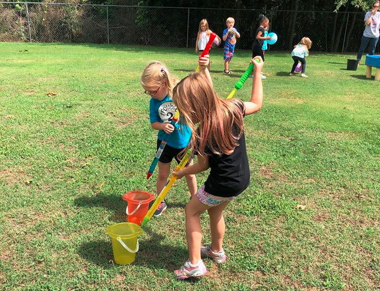 kids in playground at a Christain Preschool & Daycare Serving Loganville, GA