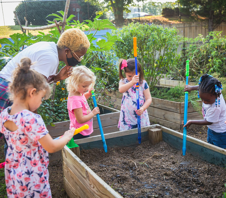 Enrichment Such as Gardening, Music, and Yoga, Included in Tuition